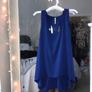Royal Blue Open Back Top